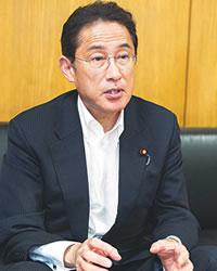 「大きな責任を感じ、緊張感を持って職責を全うしたい」と力を込める岸田文雄政務調査会長