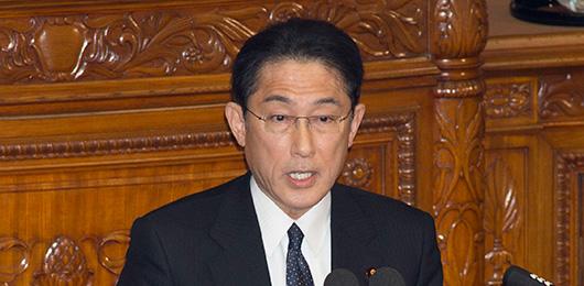 第189回国会における岸田外務大...
